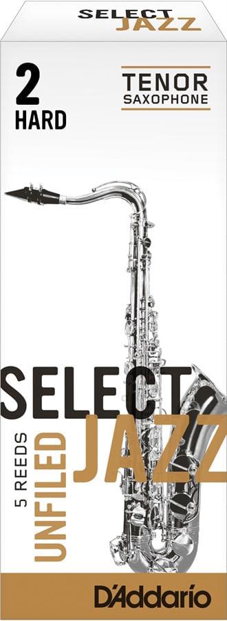 "Palheta 2 Hard ""Select Jazz Unfiled - D'Addario"", Sax Tenor, cx c/05"