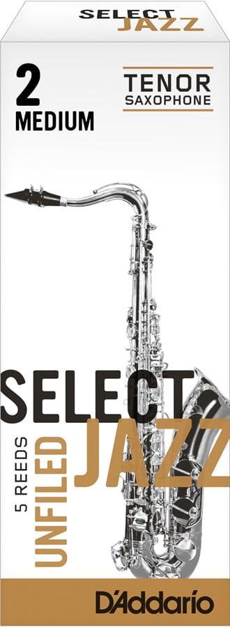"Palheta 2 Medium ""Select Jazz Unfiled - D'Addario"", Sax Tenor, unid."