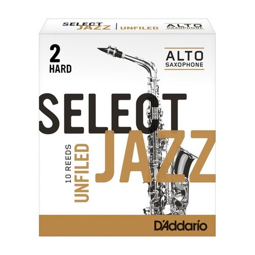 "Palheta 2 Hard, ""Select Jazz Unfiled - D'Addario"", Sax Alto, cx c/10 unid."