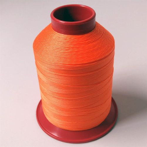 Linha de nylon fina, carretel 660 m - Cor: Laranja Cítrico