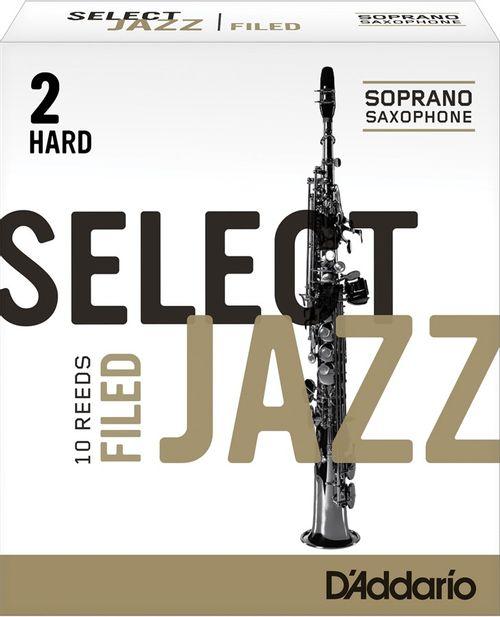"Palheta 2 Hard ""Select Jazz Filed - D'Addario"", Sax Soprano, unid."