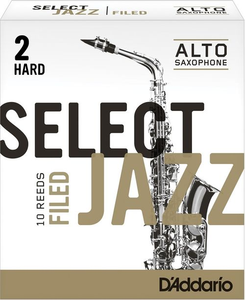 "Palheta 2 Hard ""Select Jazz Filed - D'Addario"", Sax Alto, cx c/10"