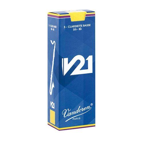 """Palheta 2.5 """"V21 - Vandoren"""", Clarone Baixo, unid."""