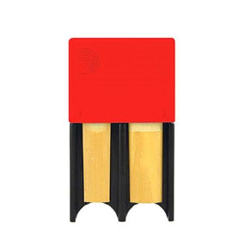 Porta-palheta de Clarinete Bb e Sax Alto D'Addario vermelho, p/ 4palhetas
