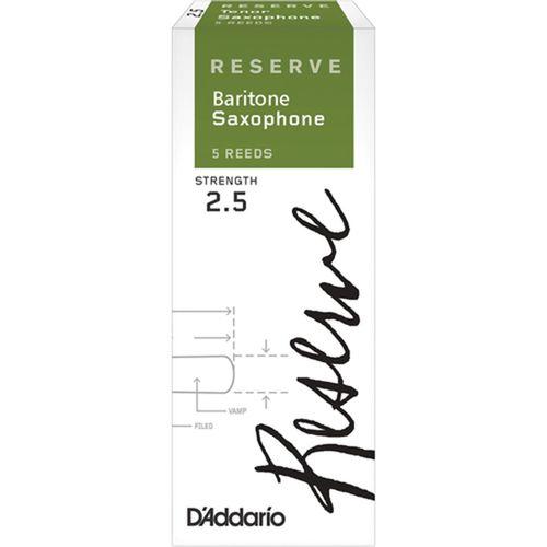 "Palheta 2.5 ""Reserve - D'Addario"", Sax Barítono, cx c/5 unid."