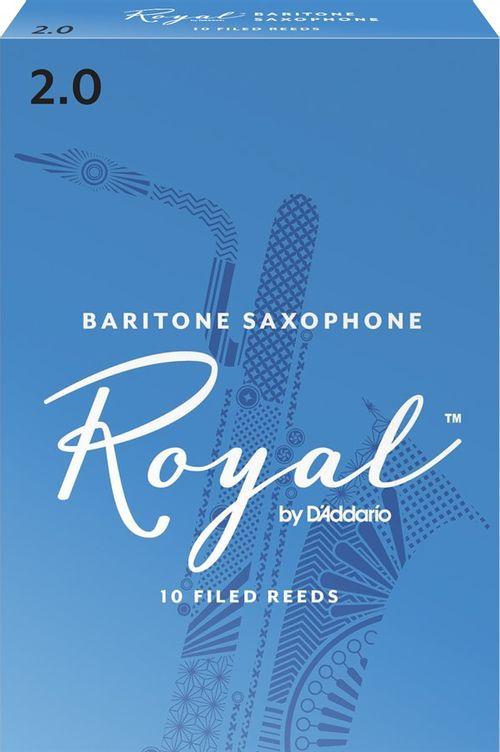 """Palheta 2.0 """"Royal - D'Addario"""", Sax Barítono, cx c/10 unid."""