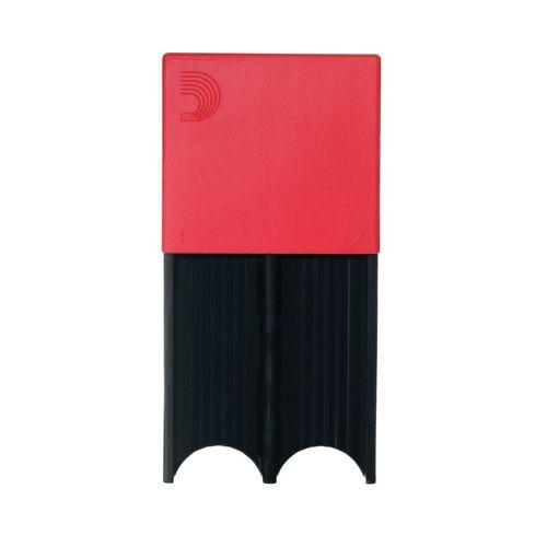 Porta-palheta de Clarone Baixo e Sax Tenor ou Barítono D'Addario vermelho, p/ 4palhetas