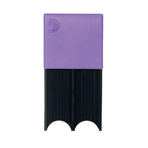 Porta-palheta de Clarone Baixo e Sax Tenor ou Barítono D'Addario roxo, p/ 4palhetas