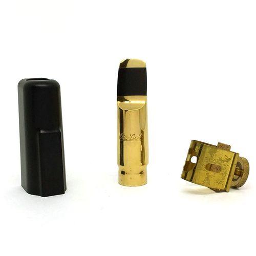 Boquilha Sax Soprano de metal + abraçadeira e cobreboq., Otto Link STM 8*