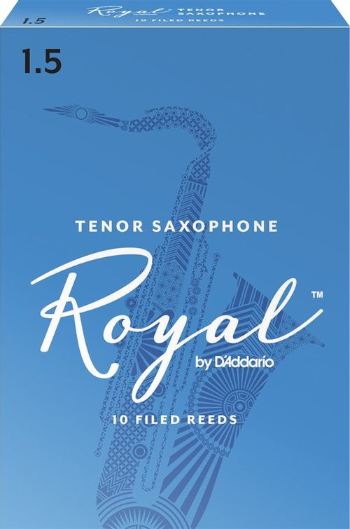 "Palheta 1.5 ""Royal - D'Addario"", Sax Tenor, cx c/10 unid."