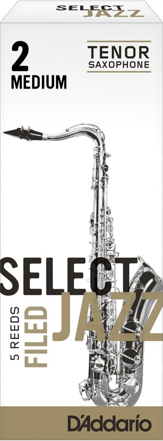 "Palheta 2 Medium, ""Select Jazz Filed - D'Addario"", Sax Tenor, cx c/05"