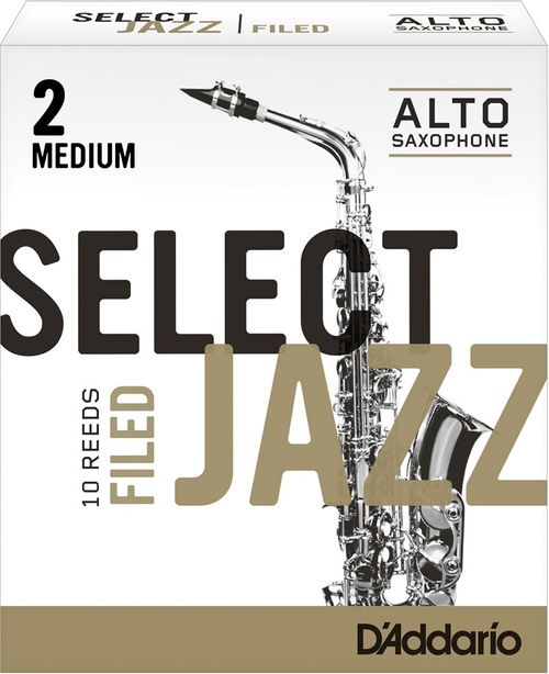 "Palheta 2 Medium, ""Select Jazz Filed - D'Addario"", Sax Alto, unid."