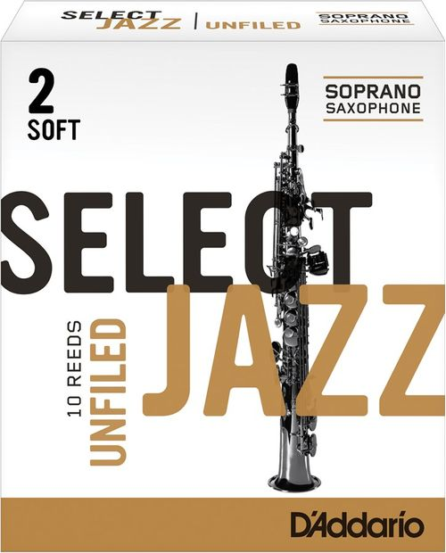 "Palheta 2 Soft, ""Select Jazz Unfiled - D'Addario"", Sax Soprano, unidade"